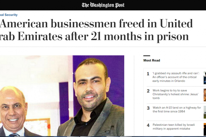The Washington Post - 2 American businessmen freed in United Arab Emirates after 21 months in prison